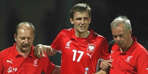 Wojciech Łobodziński nie zagra w meczu z Danią /ASInfo