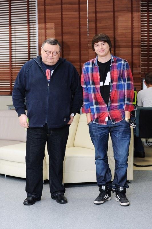 Wojciech Mann z synem Marcinem  /East News