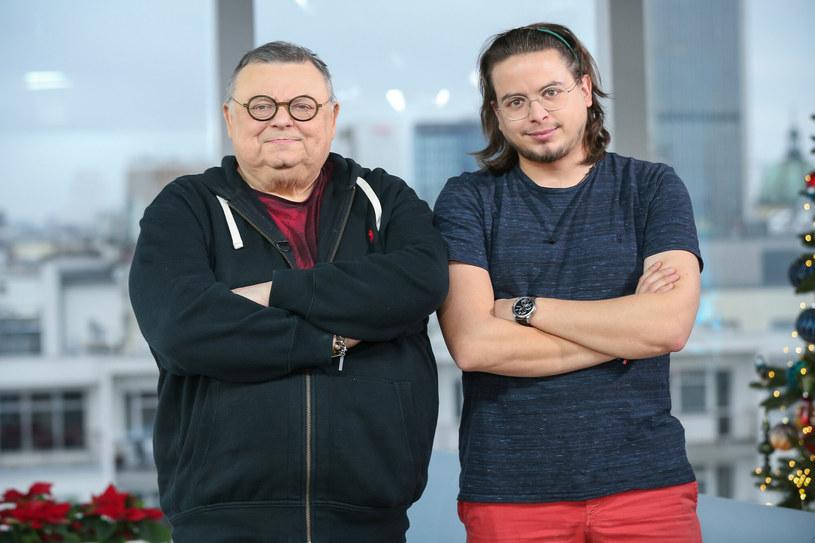 Wojciech Mann z synem Marcinem /KAMIL PIKLIKIEWICZ/Dzien Dobry TVN/East News /East News