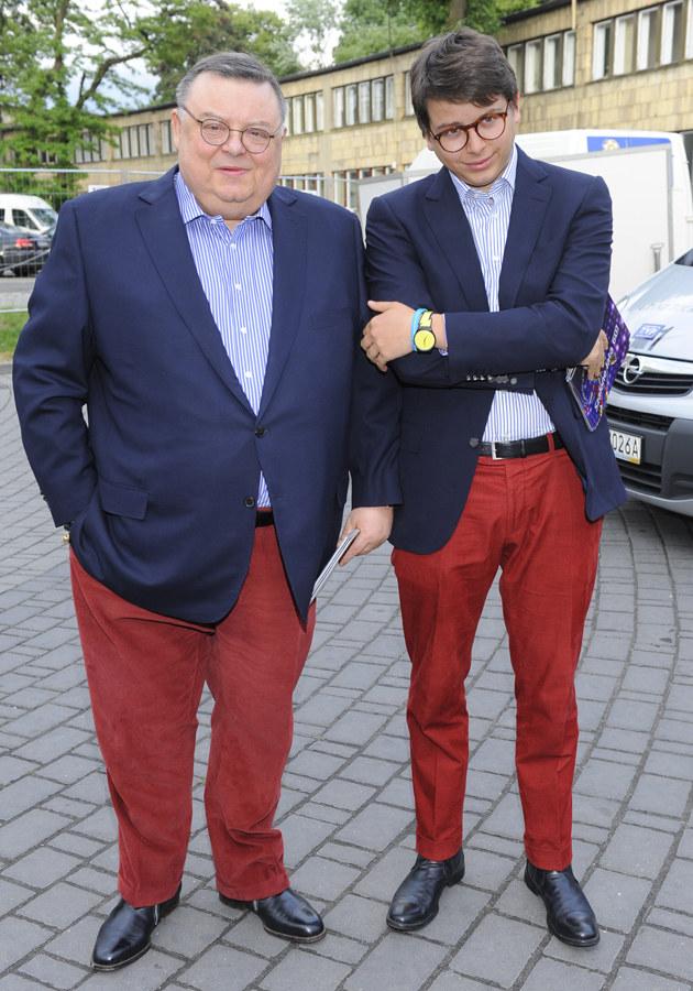 Wojciech Mann z synem /Jarosław Antoniak /MWMedia