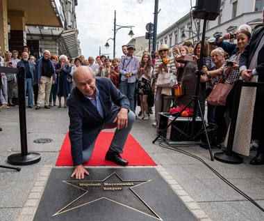 Wojciech Marczewski odsłonił swoją gwiazdę na ul. Piotrkowskiej