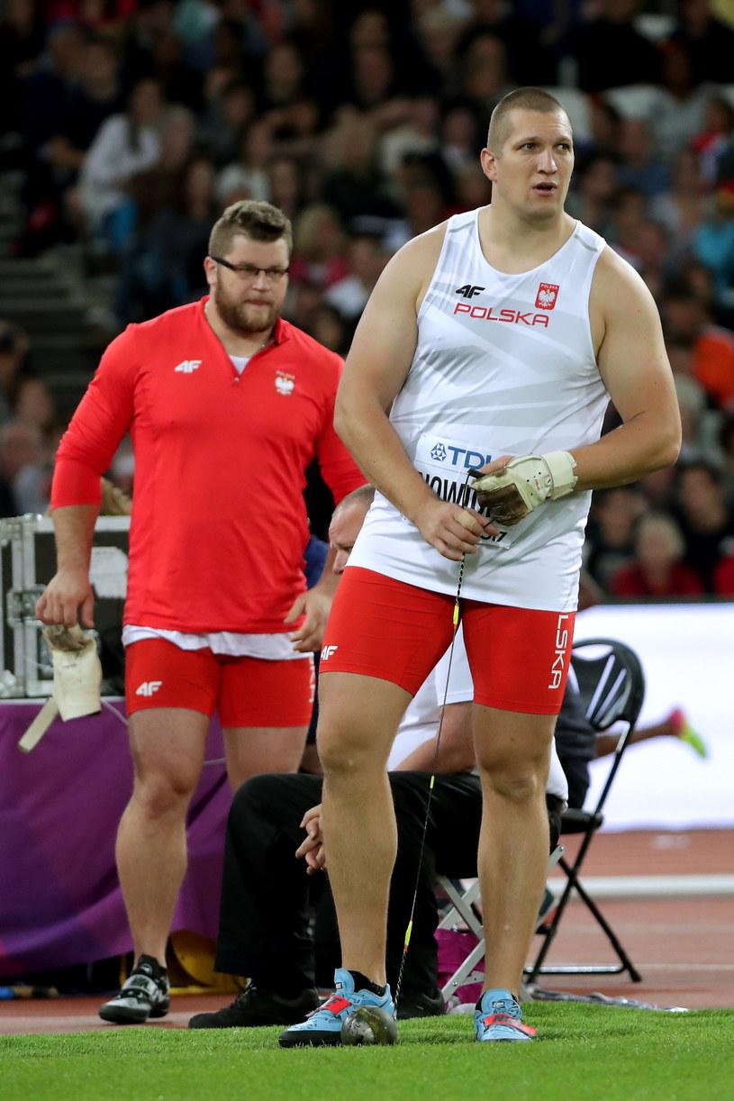 Wojciech Nowicki (z prawej) i Paweł Fajdek /Bartłomiej  Zborowski /PAP