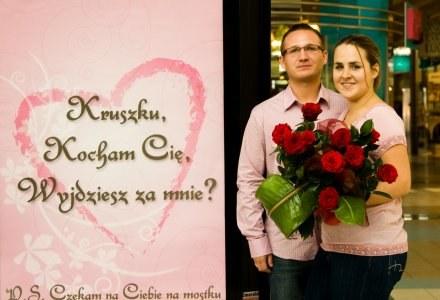 Wojciech oświadczył się Agnieszce w centrum handlowym /EchoMiasta_Katowice