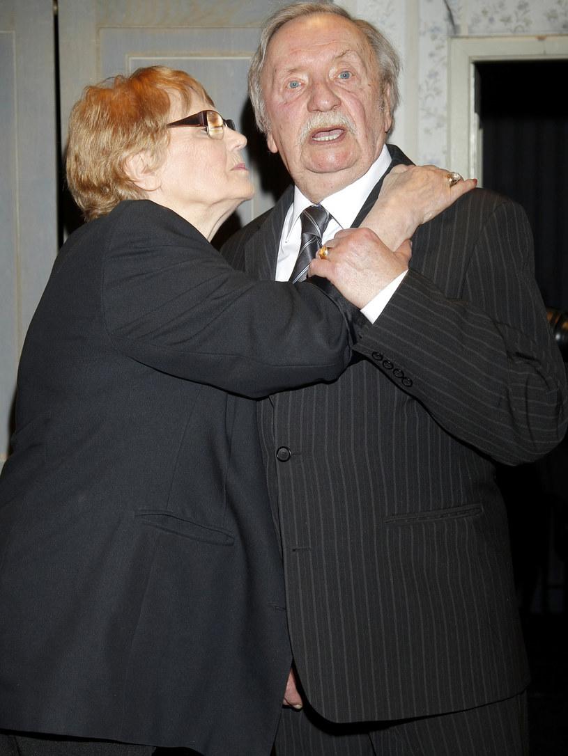 Wojciech Pokora z żoną Hanną /Grabarski Damian /AKPA