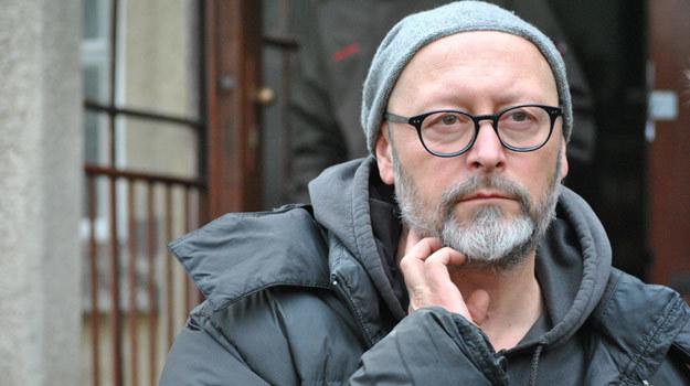 """Wojciech Smarzowski na planie filmu """"Anioł"""" /INTERIA.PL"""
