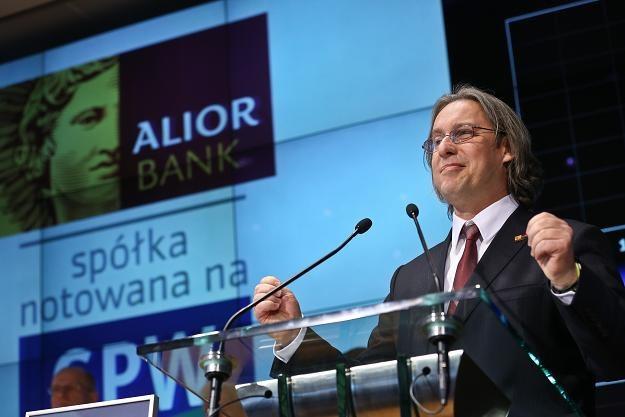 Wojciech Sobieraj, prezes Alior Banku, na debiucie na GPW /PAP