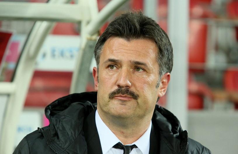 Wojciech Stawowy podczas meczu Cracovii z Lechem /Stanisław Rozpędzik /PAP