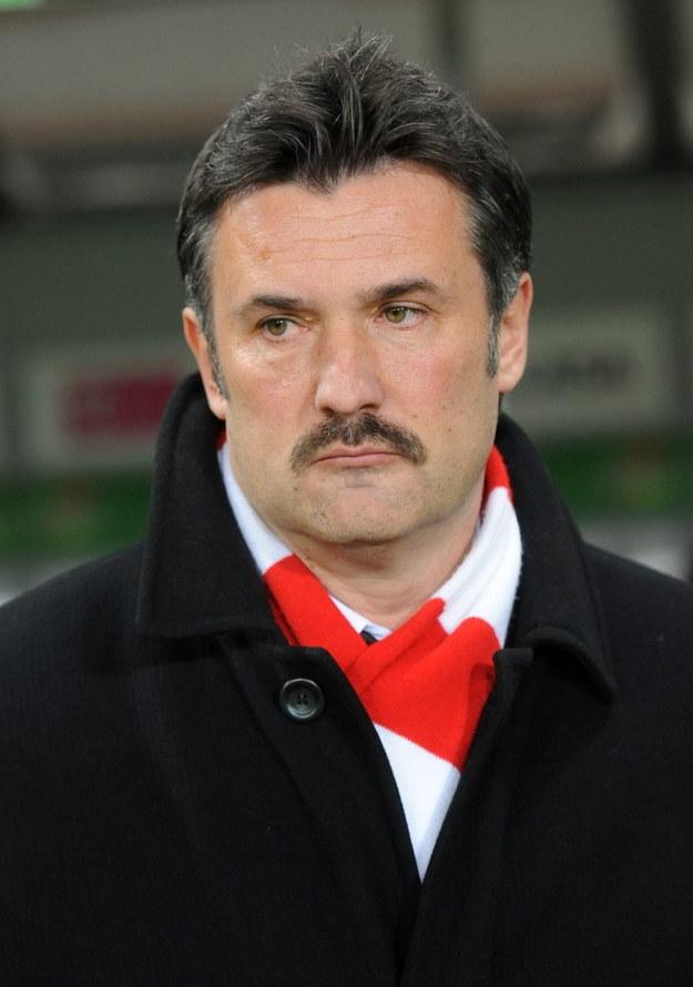 Wojciech Stawowy - trener Cracovii Kraków /Bartłomiej Zborowski /PAP