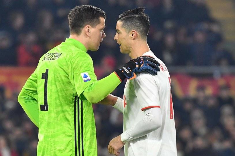 Wojciech Szczęsny i Cristiano Ronaldo /AFP
