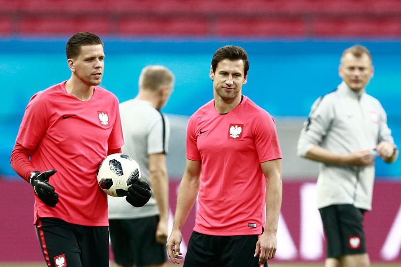 Wojciech Szczęsny i Grzegorz Krychowiak /BENJAMIN CREMEL/ AFP /AFP