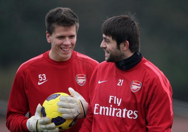 Wojciech Szczęsny i Łukasz Fabiański na treningu Arsenalu /Getty Images/Flash Press Media