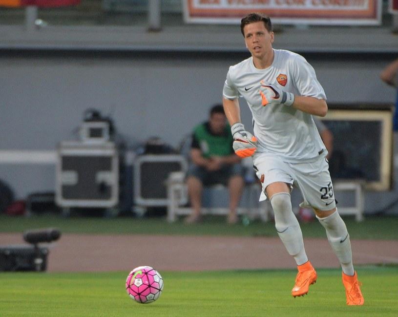 Wojciech Szczęsny podczas meczu Romy z Sevillą w Rzymie /PAP/EPA