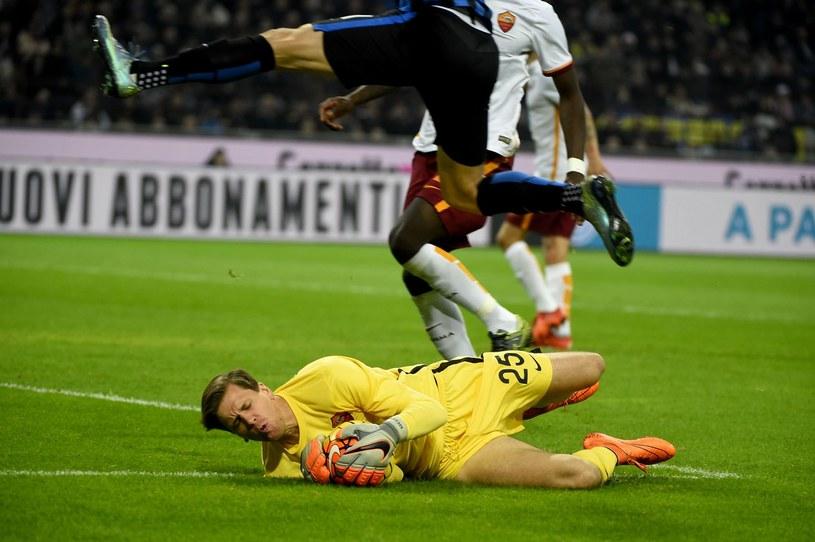 Wojciech Szczęsny w akcji podczas meczu Inter - Roma w Serie A /AFP