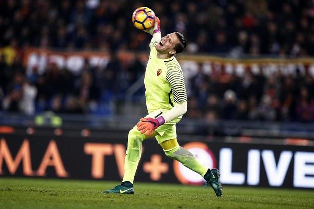 Wojciech Szczęsny w ligowym pojedynku AS Romy i AC Milan /RICCARDO ANTIMIANI /PAP/EPA