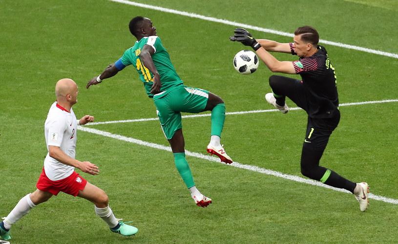 Wojciech Szczęsny w meczu z Senegalem /PAP/EPA