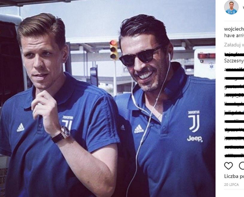 Wojciech Szczęsny (z lewej) i Gianluigi Buffon /printscreen/Instagram Wojciecha Szczęsnego /