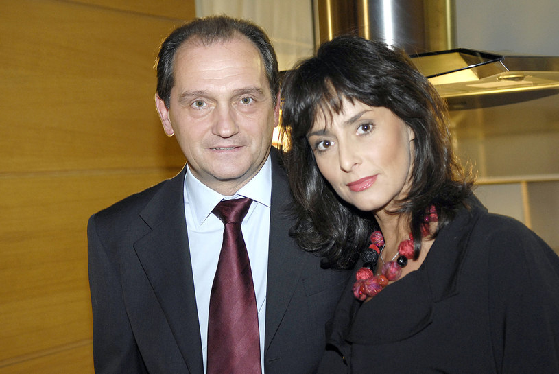 """Wojciech Wysocki i Anna Korcz na planie serialu """"Na Wspólnej"""" (2008) /AKPA"""
