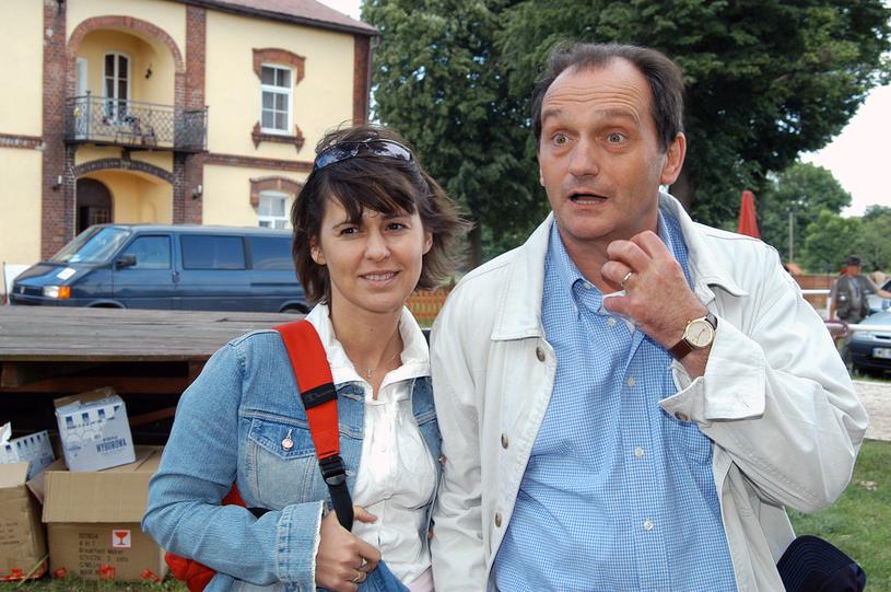 Wojciech Wysocki z żoną /Zawada /AKPA