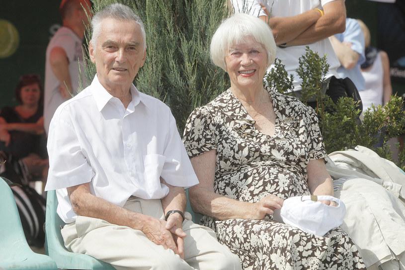 Wojciech Zabłocki i Alina Janowska, 2011 rok /Baranowski /AKPA