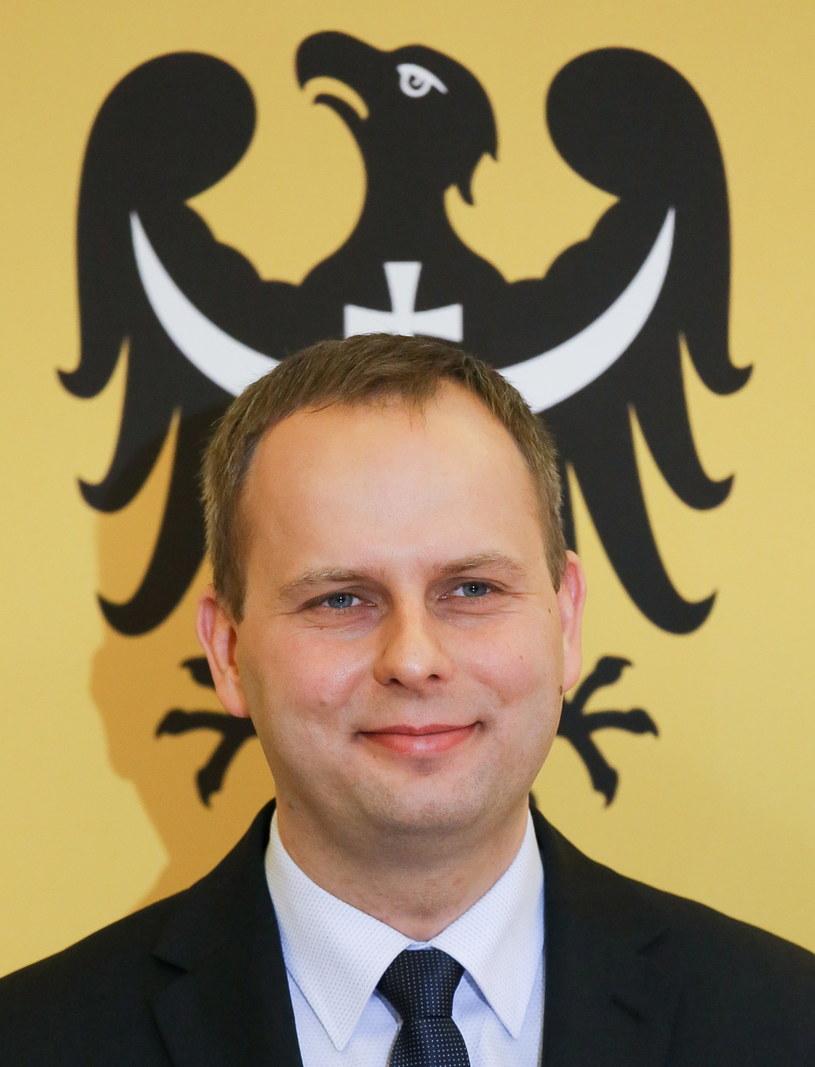 Wojewoda dolnośląski Paweł Hreniak po odebraniu aktu powołania /Paweł Supernak /PAP