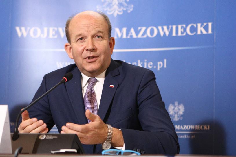 Wojewoda mazowiecki Konstanty Radziwiłł /Tomasz Jastrzebowski/REPORTER /Reporter