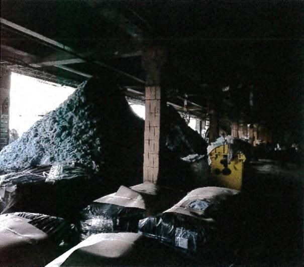 Wojewódzki Inspektorat Ochrony Środowiska – zdjęcie odpadu zgromadzonego w hali z lipca 2020 roku /