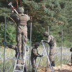 Wojsko buduje płot na granicy z Białorusią