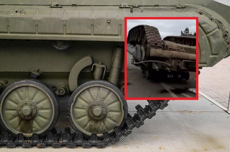 """Wojsko """"zgubiło"""" czołg na drodze /123RF/PICSEL"""
