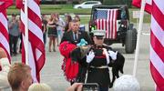 Wojskowy pies pożegnany z najwyższymi honorami