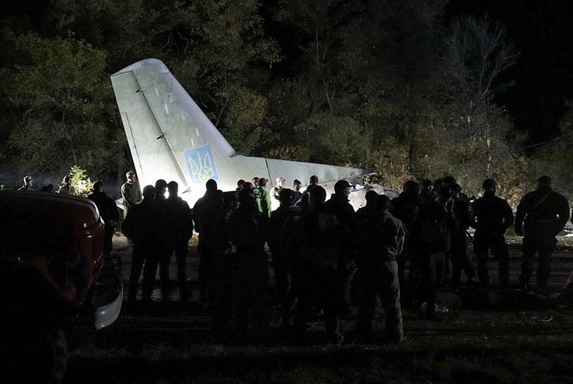 Wojskowy samolot AN-26 rozbił się pod miastem Czuhujiw /SERGEY KOZLOV /PAP/EPA