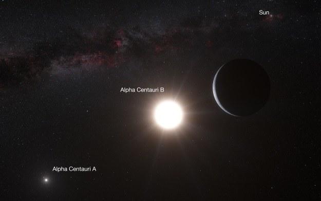 Wokół gwiazdy Alfa Centauri B może krażyć układ planetarny /materiały prasowe