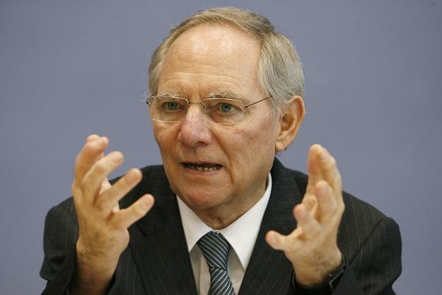 Wolfgang Schaeuble, minister finansów Niemiec /AFP