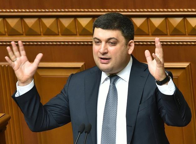 Wolodymyr Hrojsman, premier Ukrainy /AFP