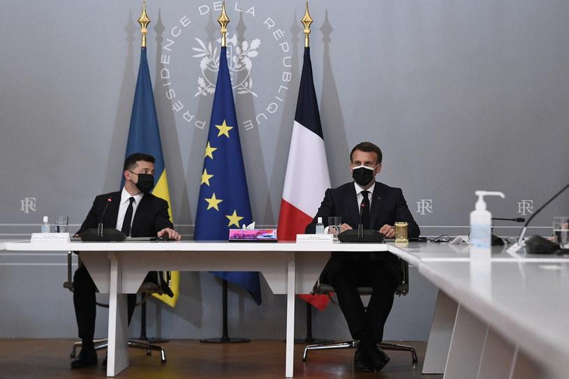 Wołodymyr Zełenski i Emmanuel Macron /ANNE-CHRISTINE POUJOULAT /PAP/EPA
