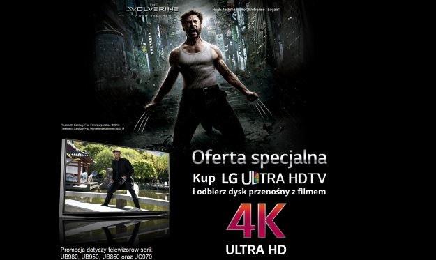 Wolverine w wersji 4K dodawany do najnowszych telewizorów UHD LG /materiały prasowe
