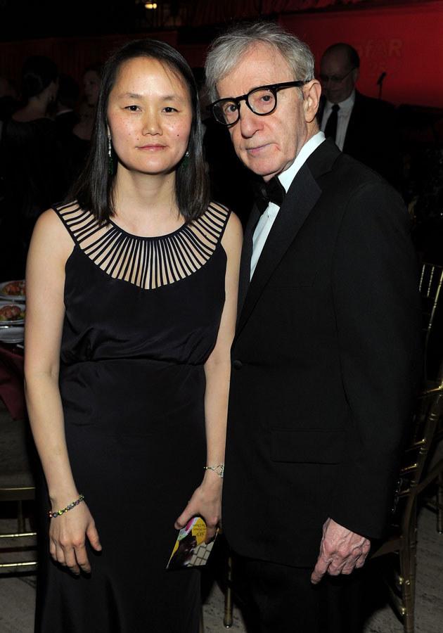 Woody Allen ze swoją żoną Soon-Yi /Larry Bussaca /Getty Images