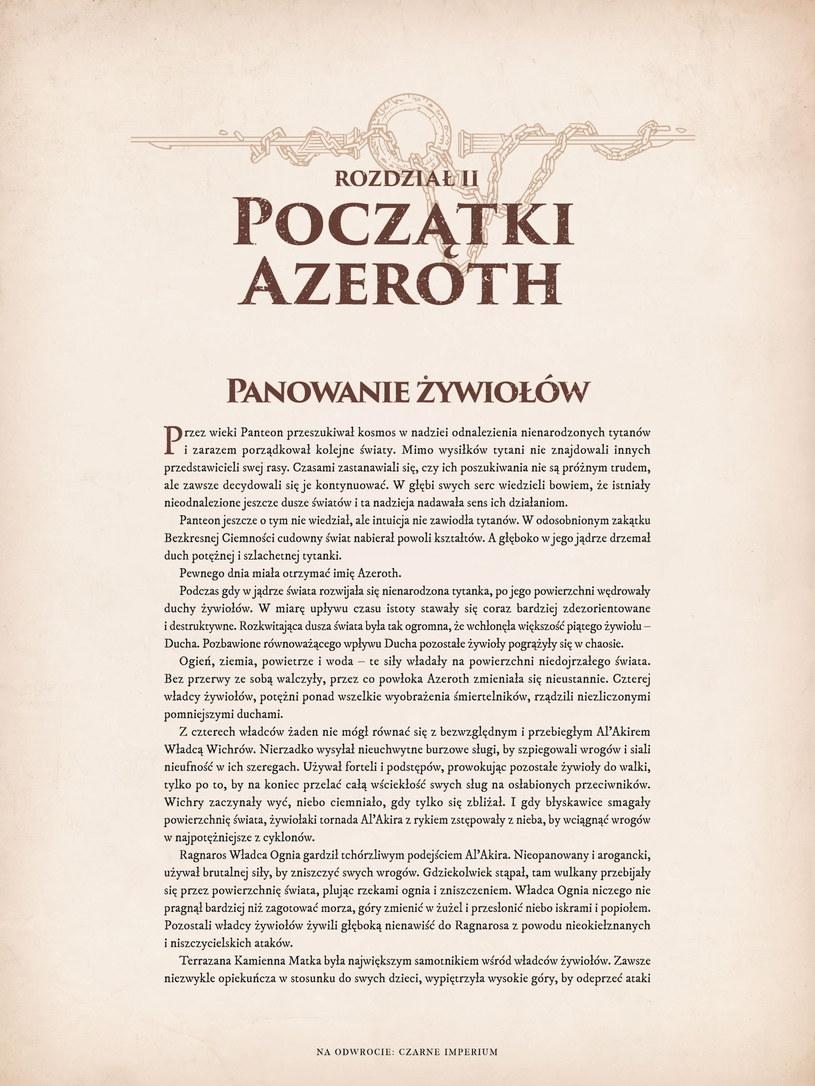 World of Warcraft Kroniki - fragment książki /materiały prasowe