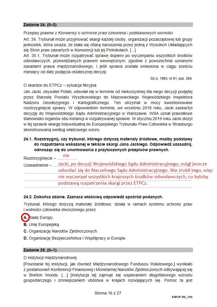 WOS 2021. Arkusz CKE i nieoficjalne odpowiedzi /INTERIA.PL
