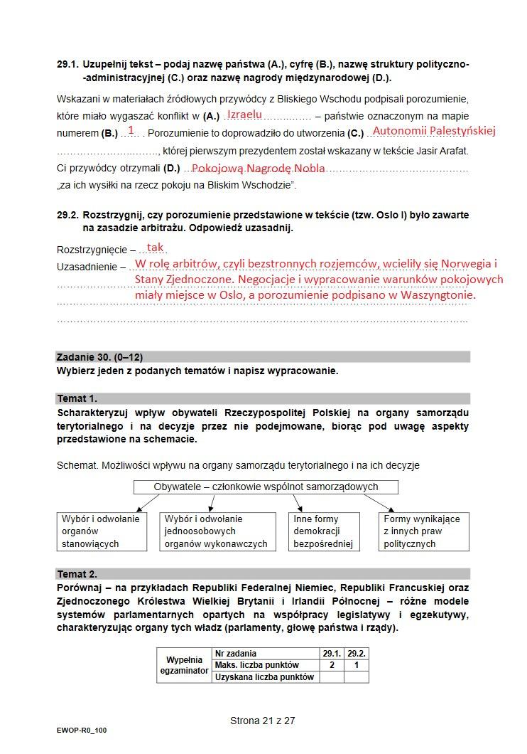 WOS. Arkusz CKE i nieoficjalne odpowiedzi /INTERIA.PL