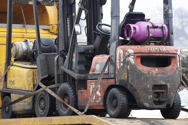 Wózki widłowe napędzane gazem LPG /fot. Adama Warżawa /PAP