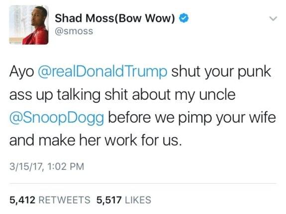 Wpis Bow Wowa, który pojawił się na jego Twitterze /