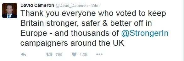 Wpis Davida Camerona /Twitter