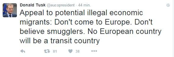 Wpis Donalda Tuska na Twitterze /Twitter