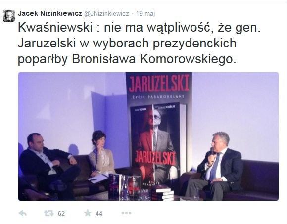 """Wpis dziennikarza """"Rzeczpospolitej"""" na Twitterze /"""