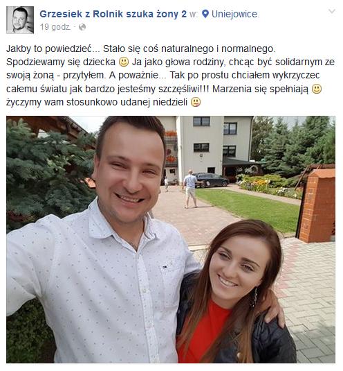 Wpis Grzegorza /Facebook