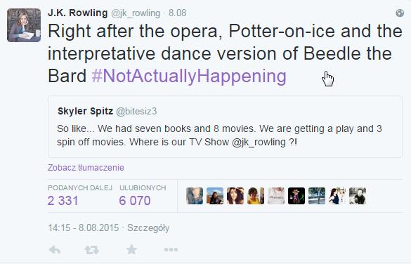 Wpis J.K. Rowling /internet