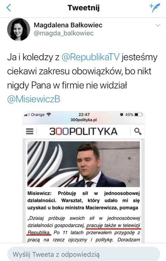 Wpis Magdaleny Bałkowiec /Twitter