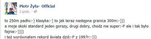 Wpis Piotra Żyły na Facebooku /INTERIA.PL