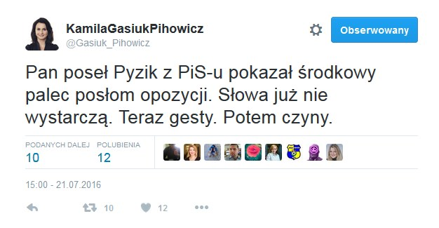 Wpis posłanki Nowoczesnej tuż po zakończeniu debaty /Twitter