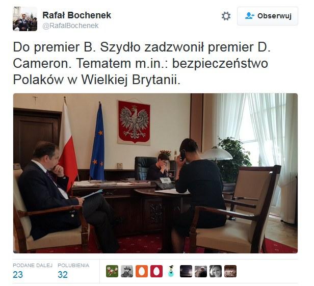 Wpis Rafała Bochenka /Twitter